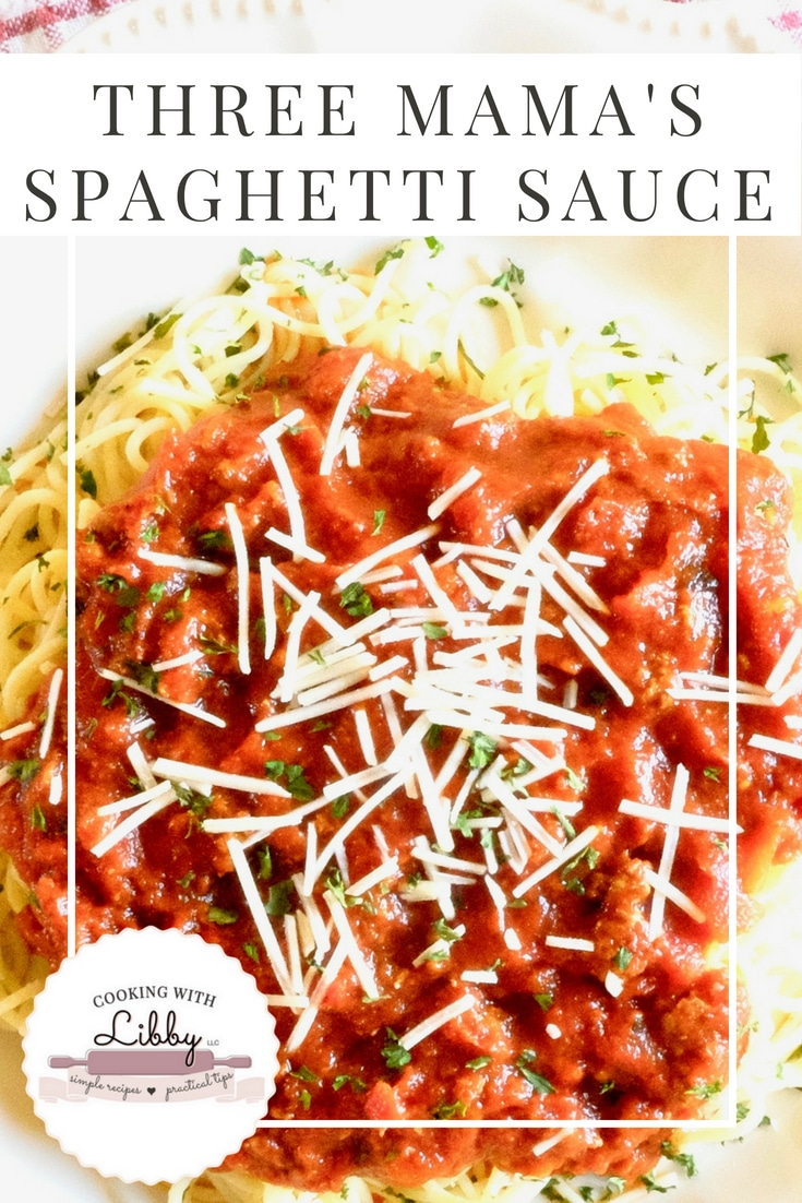 This easy recipe for spaghetti sauce can be made in the crockpot or on the stove top. It uses classic Italian ingredients such as garlic and Italian Seasoning and is about as comforting as homemade spaghetti sauce can get! #easyrecipe #comfortfood #crockpot #slowcookerrecipes