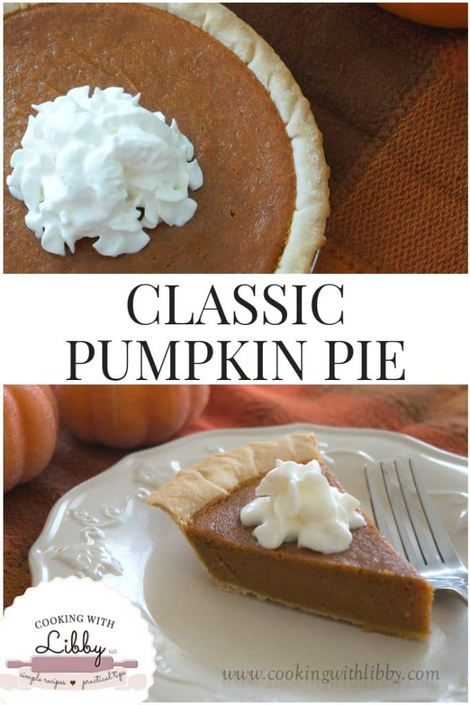 One whole Classic Pumpkin Pie and one piece.