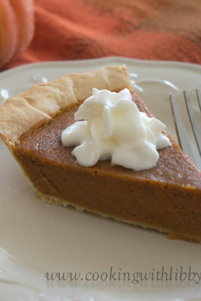One piece of Classic Pumpkin Pie