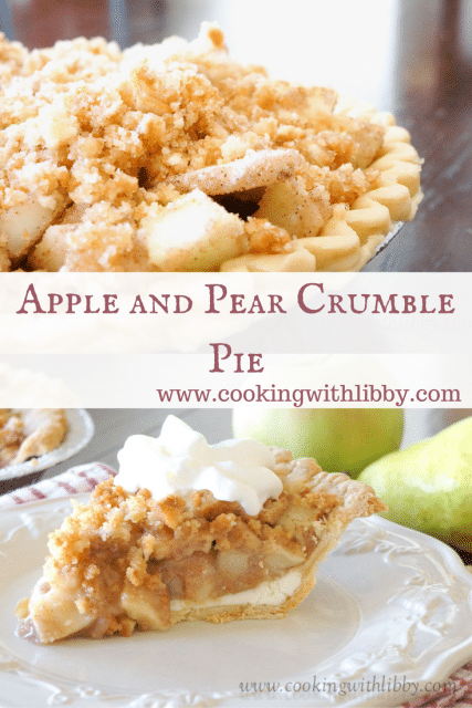apple & pear crumble pie | cooking with libby