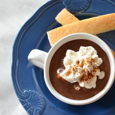 French Hot Chocolate with Homemade Whipped Cream