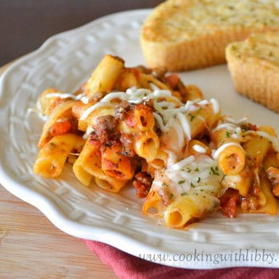 Baked Ziti {5 Ingredient}
