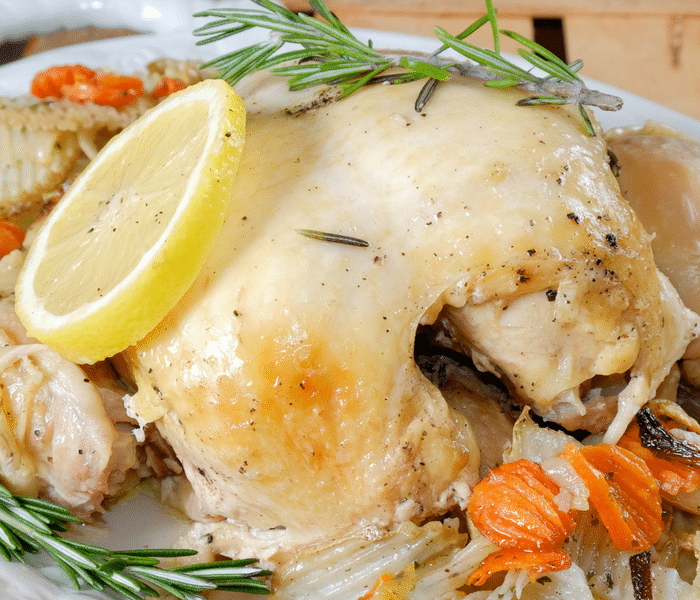 Made with ingredients such as fresh rosemary, lemon slices, and garlic, this Savory Slow Cooker Rosemary Lemon Chicken will be the easiest AND tastiest meal you will make all week!