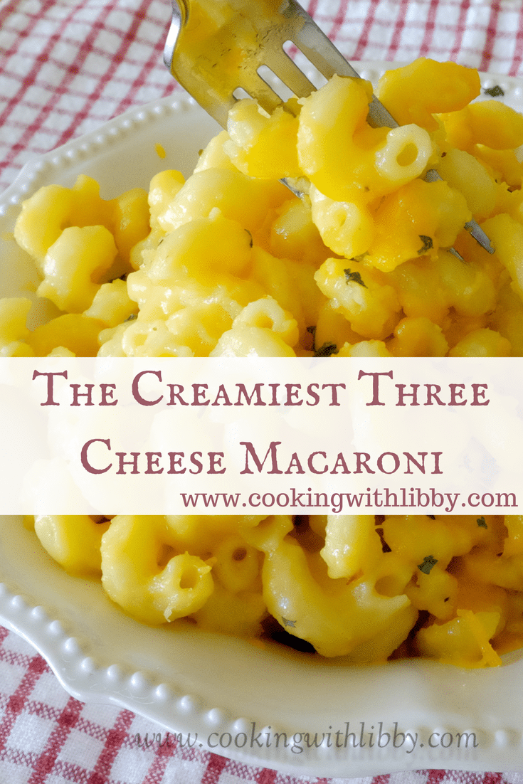 Made with Havarti Cheese, Sharp Cheddar, and good ole' American cheese, this Three Cheese Macaroni may be the creamiest dish you have ever tried!