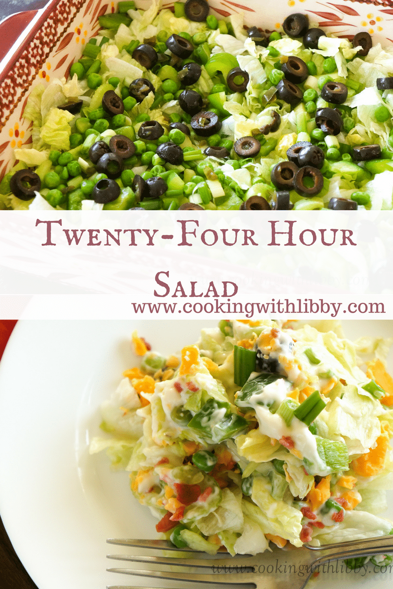 Start your year off right by making this Twenty-Four Hour Salad. It's just like a normal salad, except it marinades for 24 hours!