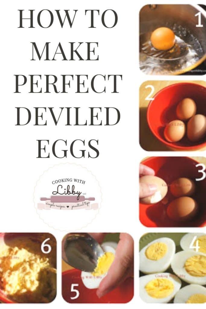 This easy recipe for Perfect Deviled Eggs is not only a classic, but is also one of the best I have tried! There is also a tutorial for how to make the perfect hard boiled egg! These make great appetizers year round for any occasion! #easyrecipe #Superbowl #Thanksgiving #deviledeggs #eggs #appetizers