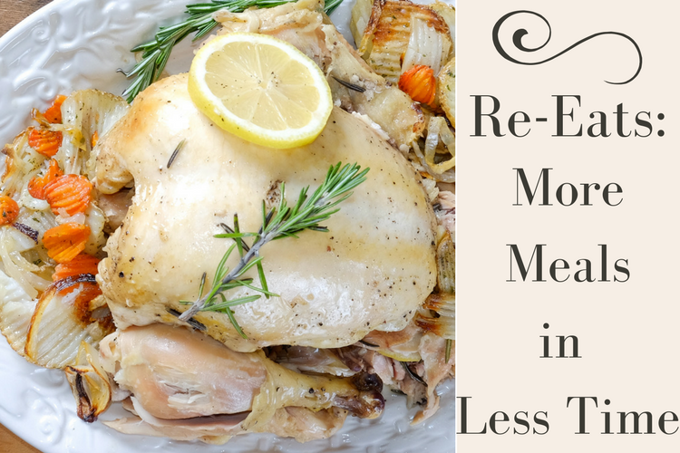 With Re-Eats, learn how to make more meals in less time during the week by turning one recipe into two or three separate dishes!