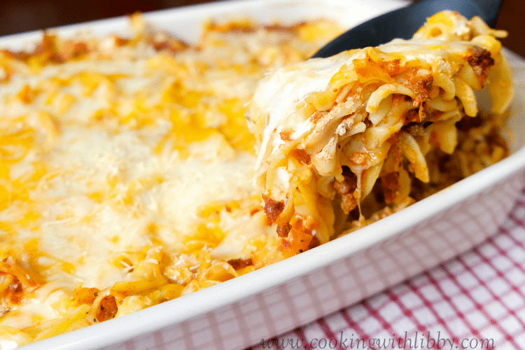 Lasagna meets beef stroganoff in this recipe. Once you read about the story behind this dish, you'll see that it really is a Husband's Delight Casserole!