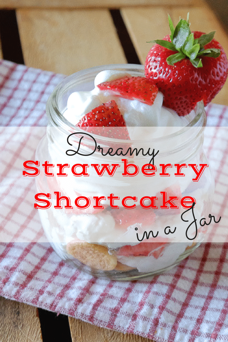 This strawberry shortcake dessert can be made in mason jars and is a quick and easy way to end your delicious dinners this summer!